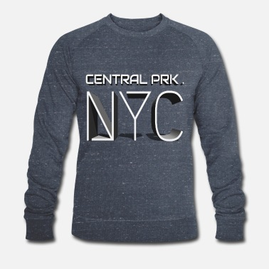 New York City, NYC, Central Park, Central Prk - Männer Bio Pullover
