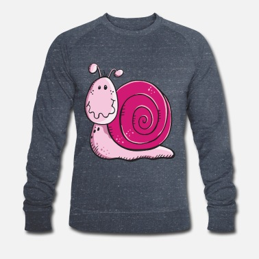 Cute Cartoon Cute Snail - Snails - Gift - Cartoon - Sweat-shirt bio Homme
