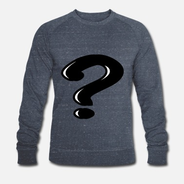 Question Question mark - Men's Organic Sweatshirt