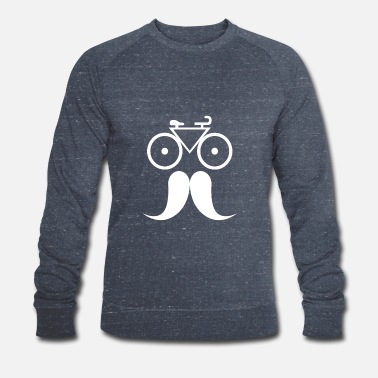 Gentleman Vélo avec moustache - gentleman - Sweat-shirt bio Homme