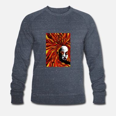 Mahuika - goddess of fire | Abstract art - Men's Organic Sweatshirt