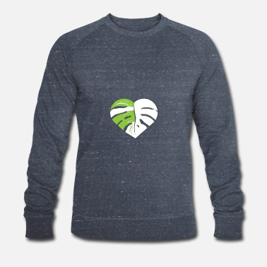 Monstera heart leaf - Men's Organic Sweatshirt