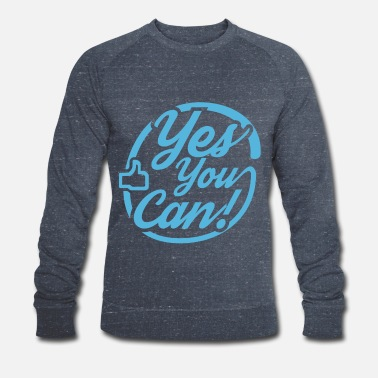 yes you can - Männer Bio Pullover