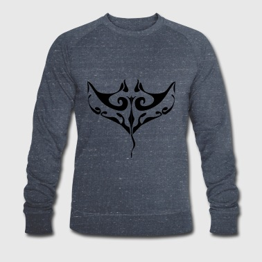 Manta ray tatoo - Men's Organic Sweatshirt by Stanley & Stella