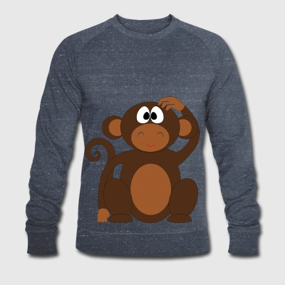 Pelo the monkey - Men's Organic Sweatshirt by Stanley & Stella