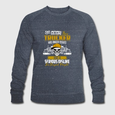 Trucker anger issues - Men's Organic Sweatshirt by Stanley & Stella