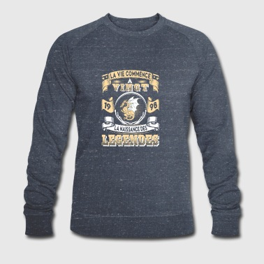 1998 20 20th birthday gift legend FR - Men's Organic Sweatshirt by Stanley & Stella