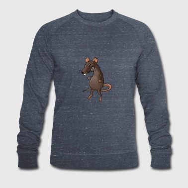Fiese rat rodent vermin rodent mouse - Men's Organic Sweatshirt by Stanley & Stella