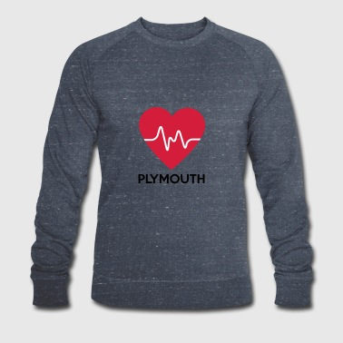 heart Plymouth - Men's Organic Sweatshirt by Stanley & Stella