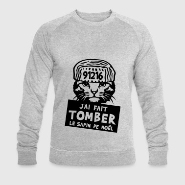 chat tomber sapin noel citation prisonni - Sweat-shirt bio Stanley & Stella Homme