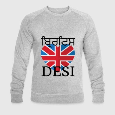 Desi BRITISH DESI - Men's Organic Sweatshirt by Stanley & Stella