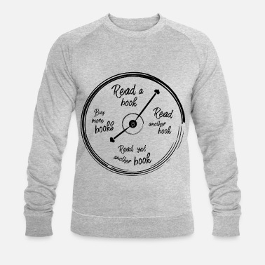 Read 0001 o'clock reading book book lover time - Men's Organic Sweatshirt