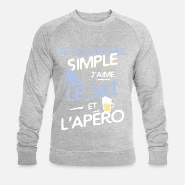 Ski SKI - un mec simple - Sweat-shirt bio Stanley & Stella Homme
