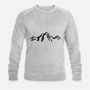 Scenery Mountain scenery / Mountains black - Men's Organic Sweatshirt by Stanley & Stella