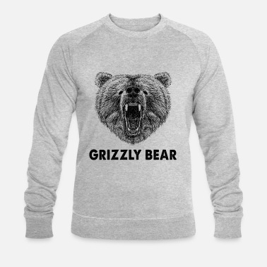Cool Wild Grizzly Bear Funny Gifts, camping, caravana - Sudadera ecológica hombre de Stanley & Stella