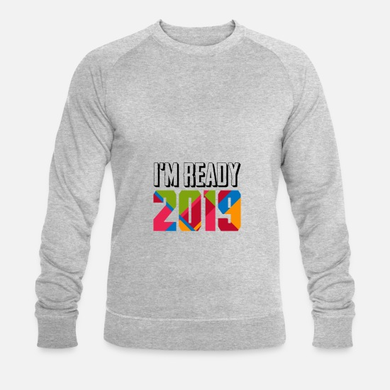 New World Order Hoodies & Sweatshirts - New year new year 2019 new year beer party year - Men's Organic Sweatshirt heather grey