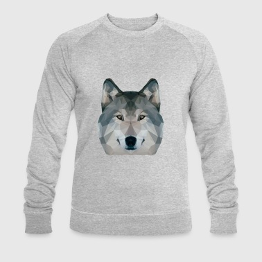 Low Poly Wolf - Men's Organic Sweatshirt by Stanley & Stella
