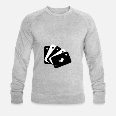 Playing Card Playing cards black and white - Men's Organic Sweatshirt