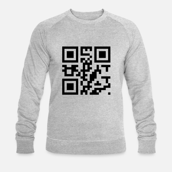 Love Hoodies & Sweatshirts - Dear QR Code - Men's Organic Sweatshirt heather grey