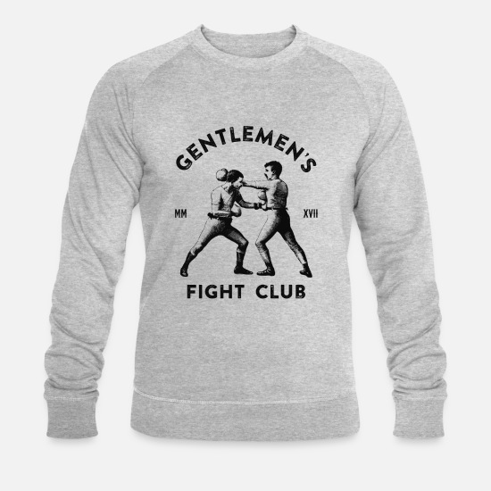 Gentleman Sweat-shirts - Gentleman's Fight Club - Sweat-shirt bio Homme gris chiné