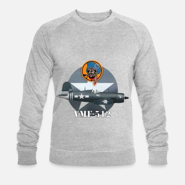 Corsair F4U- Corsair of the VMF-512 - Men's Organic Sweatshirt by Stanley & Stella