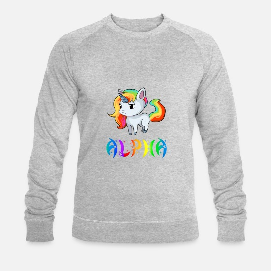 Alpha Hoodies & Sweatshirts - Unicorn Alpha - Men's Organic Sweatshirt heather grey