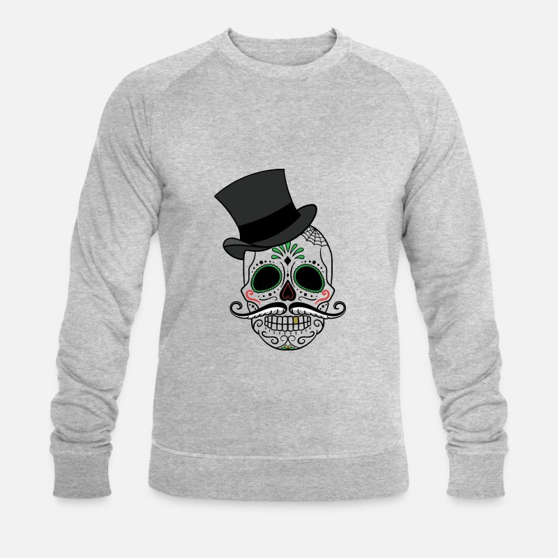 Day Hoodies & Sweatshirts - Day of the Dead - Men's Organic Sweatshirt heather grey