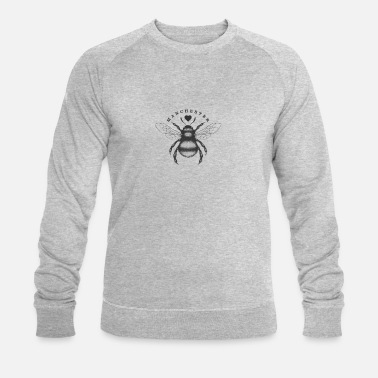 Manchester Traditional worker bee and love heart Manchester - Men's Organic Sweatshirt by Stanley & Stella
