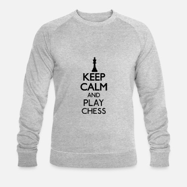 Keep Chess Keep Calm Board Tower King Matt Geschen - Mannen bio sweater