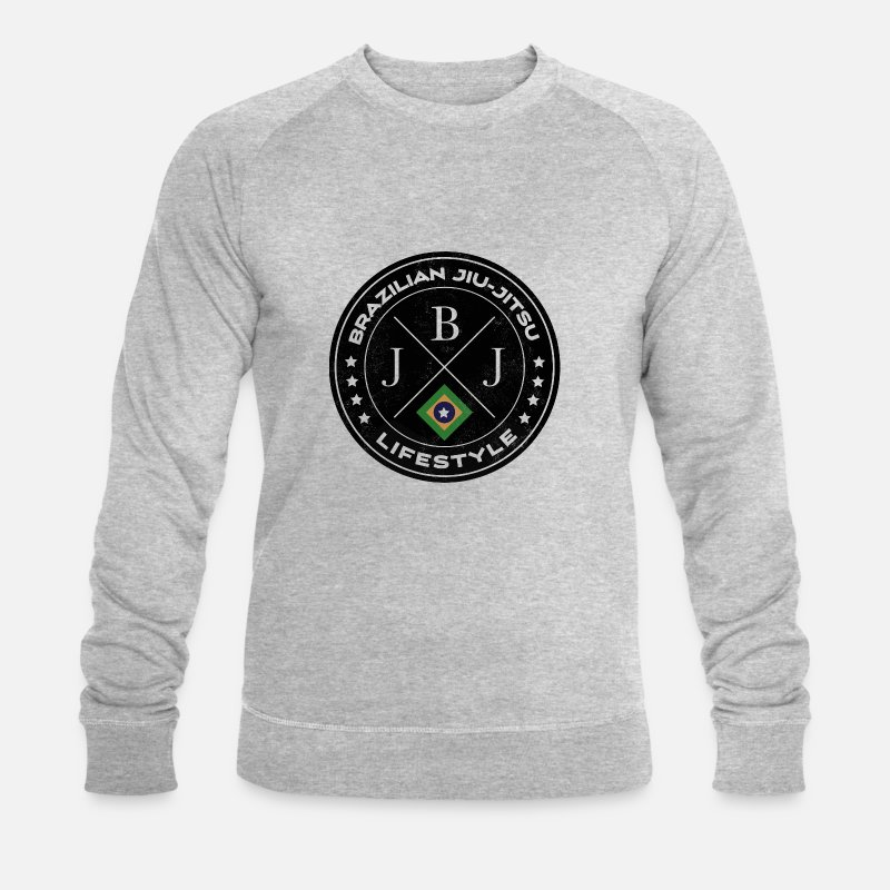 Jiujitsu Hoodies & Sweatshirts - Brazilian jiu-jitsu - Men's Organic Sweatshirt heather grey