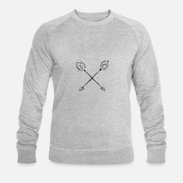 Hand Drawn beautiful hand-drawn arrows - Men's Organic Sweatshirt by Stanley & Stella