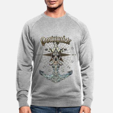 Portugalete Anchor Nautical Sailing Boat Summer - Men's Organic Sweatshirt