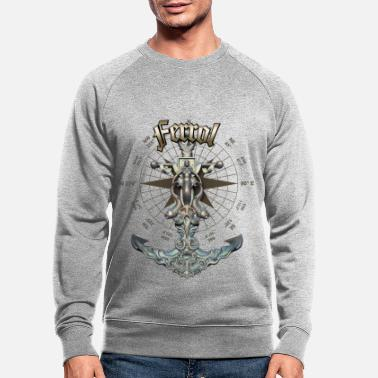 Ferrol Anchor Nautical Sailing Boat Summer - Men's Organic Sweatshirt