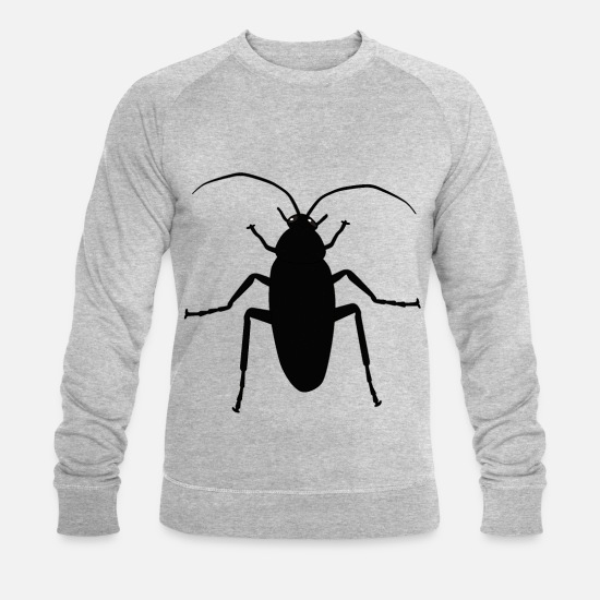 Aversion Hoodies & Sweatshirts - Cockroach Sharp insect pest animals phobia - Men's Organic Sweatshirt heather grey