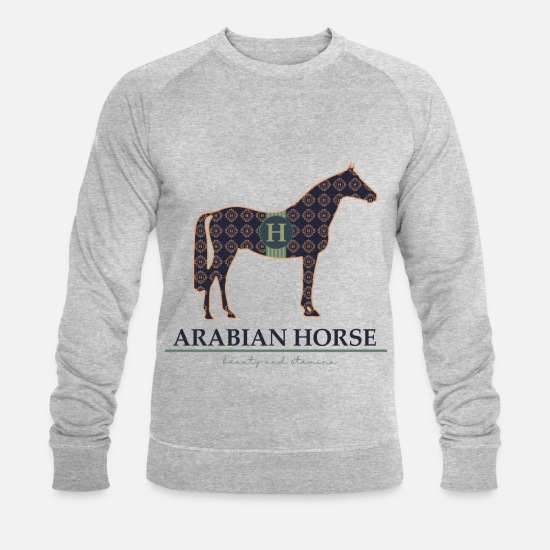 Saddle Hoodies & Sweatshirts - arabian horse arabian horse from horsetshirt - Men's Organic Sweatshirt heather grey
