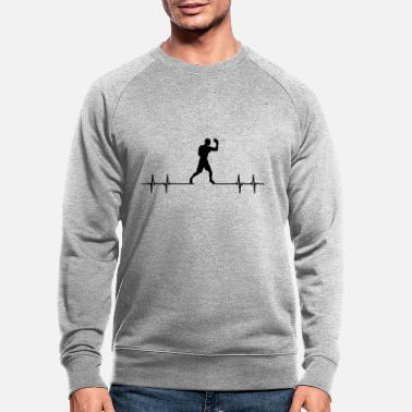 Heavyweight Boxing Kickboxing Martial Arts Boxer Heartbeat - Men's Organic Sweatshirt