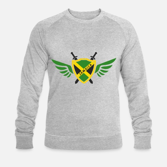 Hanf Sweat-shirts - Jamaica Wings / Kingston Caribbean Gift - Sweat-shirt bio Homme gris chiné