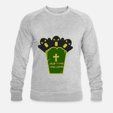 Grave Halloween on a grave - Halloween with a grave - Men's Organic Sweatshirt