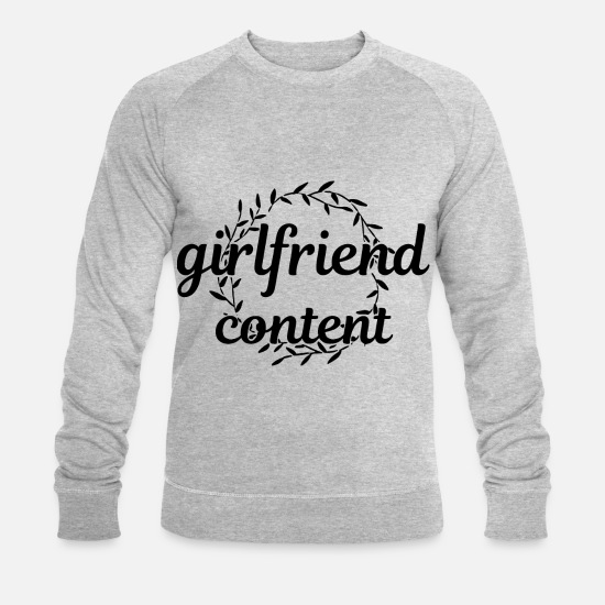 Love Hoodies & Sweatshirts - 2reborn girlfriend content love love relationship - Men's Organic Sweatshirt heather grey