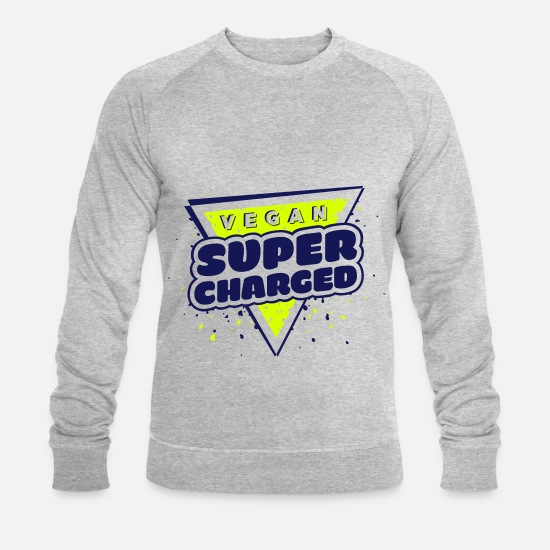Hipster Sweat-shirts - Vegan Supercharged - Sweat-shirt bio Homme gris chiné