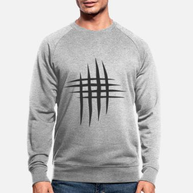 Scratch Scratch scratches in black - Men's Organic Sweatshirt