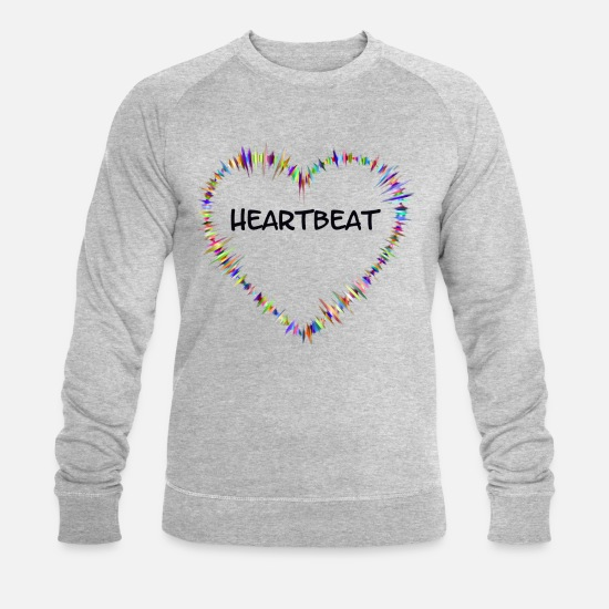 Love Hoodies & Sweatshirts - Heartbeat - Men's Organic Sweatshirt heather grey