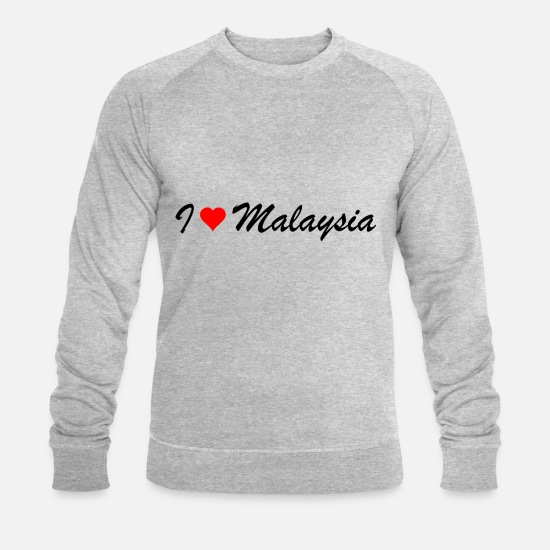 Cadeau D'anniversaire Sweat-shirts - Malaisie - Sweat-shirt bio Homme gris chiné
