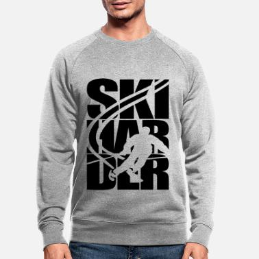 Ski Resort Ski skier ski resort area skiing - Men's Organic Sweatshirt