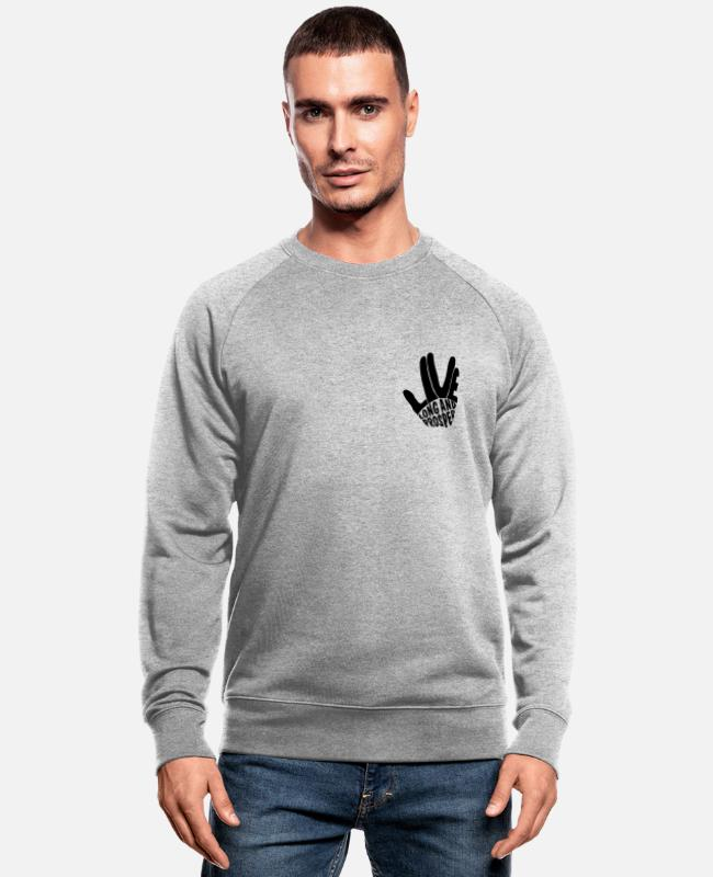 Trek Sweat-shirts - Star Trek Discovery Salut Vulcain - Sweat-shirt bio Homme gris chiné