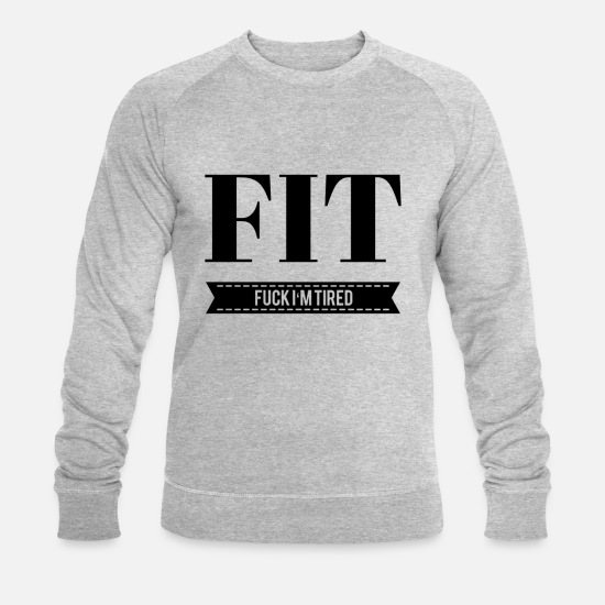 Fitness Hoodies & Sweatshirts - Fit funny - Men's Organic Sweatshirt heather grey