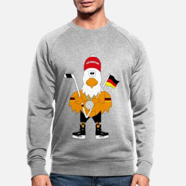 Tekstballon Cute german ice hockey eagle - Men's Organic Sweatshirt