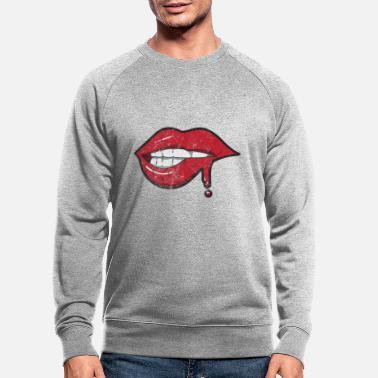 Sweat Shirt Homme Bisous Lèvres Rouges