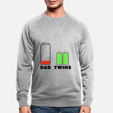 Daddy Moe Father Battery Twin T-shirt - Mannen bio sweater