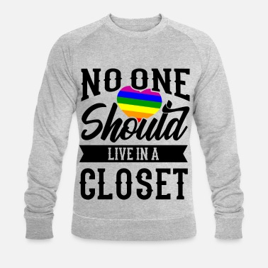 Gay Pride Nobody Should Rainbow LGBT Pride Gift - Felpa ecologica uomo